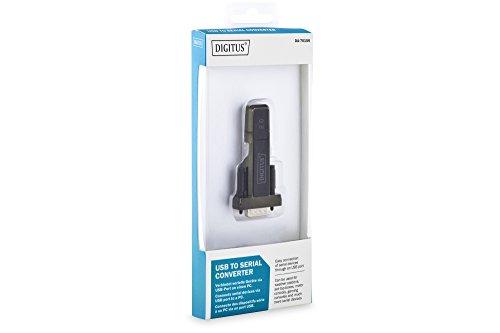 DIGITUS DA-70156 - USB 2.0 Typ-A zu Seriell Konverter (DSUB 9M / RS232) - USB 2.0 Typ-A Verlängerungskabel (80 cm) - Schwarz