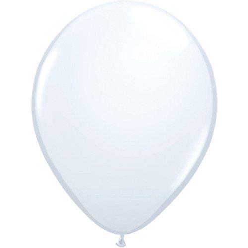 partydiscount24 5 x Luftballons Ø 30 cm | Freie Farbauswahl | 23 Ballon Farben (Weiß)