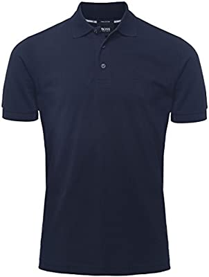 Hugo Boss Black Confort Fit polo de Ferrara Azul Oscuro