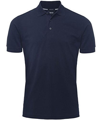 Hugo Boss Black Comfort Fit Camicia di Polo di Ferrara Blu Scuro L