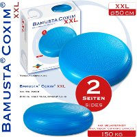 (Trendy Bamusta Coxim XXL, Sitzkissen, blau 50cm Ø 15cm hoch Rücken Haltung)