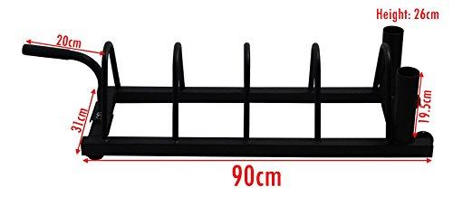 BodyRip Unisex Horizontal Olympischen Bumper Hantelscheiben Gewicht Teller Disc Barbell rack tragbar Gym Halterung, Schwarz, 110x 31x 26cm