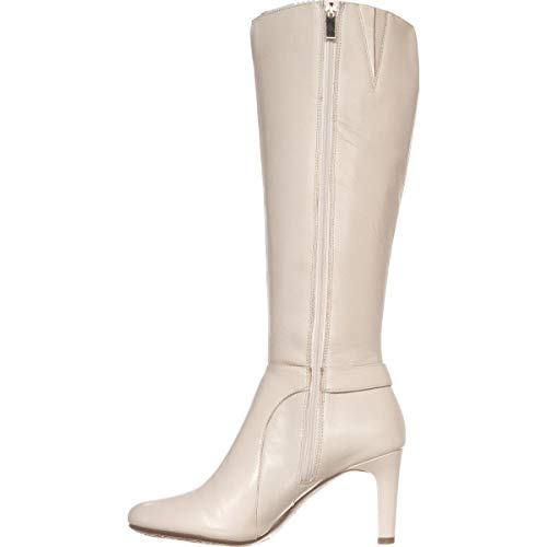 Bandolino Frauen Lella Pumps rund Leder Fashion Stiefel Beige Groesse 7 US /38 EU Bandolino Heels
