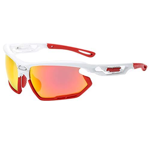 EUCoo Schutzbrillen Fahren Professionelle Polarisierte Radsportbrille Sport Sonnenbrillen Sonnenbrillen Mit Uv-Schutz(Hot Pink)