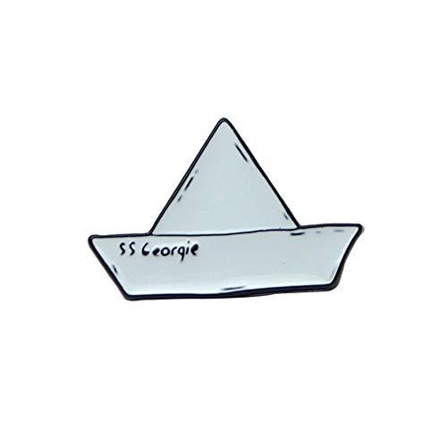 Homeofying, Piccola Spilla a Forma di Barca di Carta, in Lega Smaltata, Unisex e Lega, Colore: Blue, cod. 7P800G6248M9