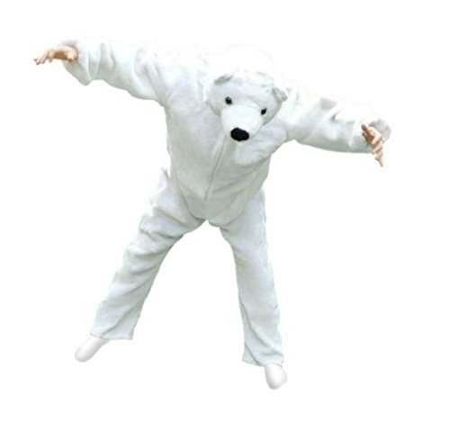 Eisbär-Kostüm, F24 Gr. XL, für hoch gewachsene Männer und Frauen, Eisbären-Faschingskostüm, für Fasching Karneval Fasnacht, Karnevals-Kostüme für Männer und Frauen, Faschings-Kostüme, Geburtstags-Geschenk, Weihnachts-Geschenk