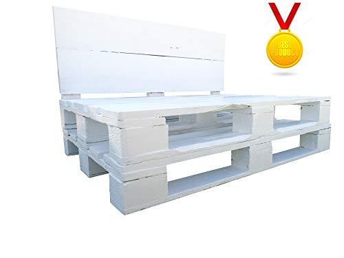 Dydaya Estructura de Sofa de Palet/Pallets Color Blanco con Respaldo para Interior...