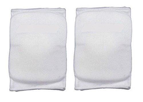 Martin Sports Volleyball Basketball Knee Pads White Medium 1 Pair Elastic Sleeve (Volleyball-martin)