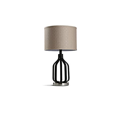 XIANGYU American Style cloth Table Lamp, Modern Simple Iron Table Lamp, Bedroom Living Room Study Lamp