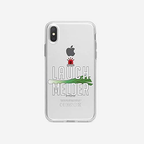 licaso iPhone X IPX Handyhülle TPU mit LAUCH MELDER Print Motiv - Transparent Cover Schutz Hülle...