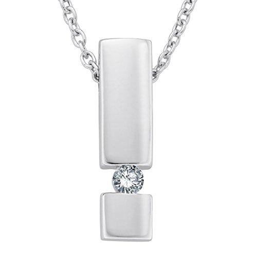 Diamond Line Diamond Line Damen - Halskette 585er Gold 1 Diamant ca. 0,15 ct.