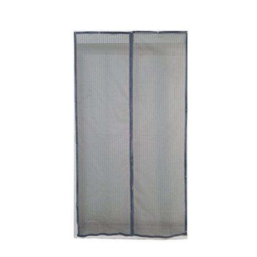 Euronovità en-26897 tenda zanzariera grigia chiusura automatica con magneti misura standard 120 x 230 cm