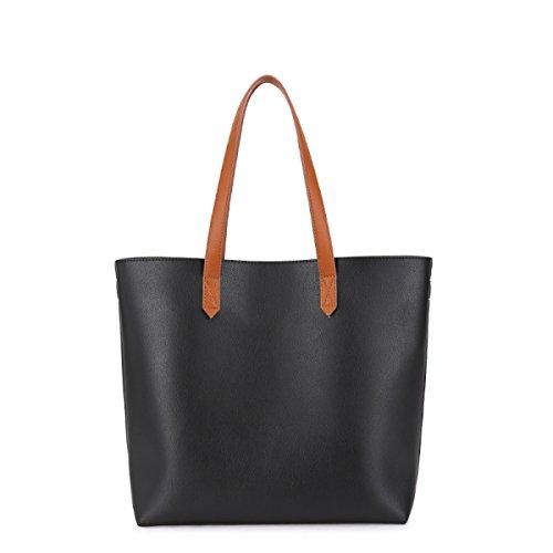 Frau Mit Hohen Kapazität Taschen Schultertaschen Retro Lässig Große Tasche Kurierbeutel Art Und Weise Einfaches Quadratisches Paket Elegant Temperament Handtaschen Black