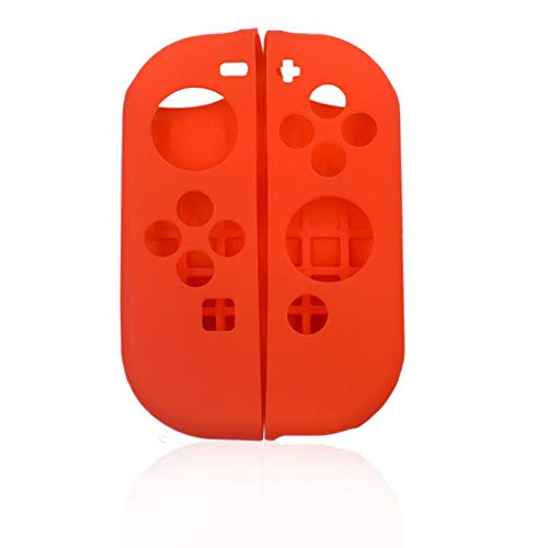 LX Profi Silikon Hülle für Nintend Switch Cover Case Soft Controller Shell Konsole Schutz NS Controller Grip Joy-con Cover Rot Controller Shell