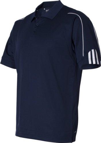 Adidas Herren ClimaLite 3-Streifen Manschette Piqué Polo Marineblau / Weiß