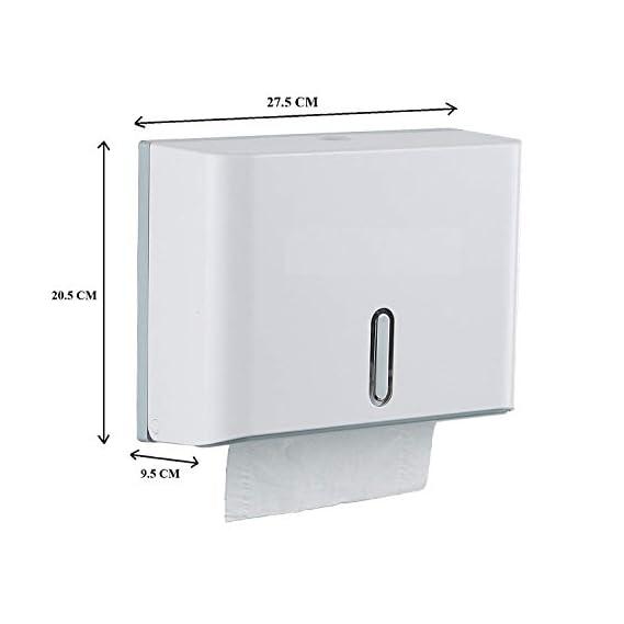 Diswa Mini Hand Tissue Paper Dispenser For Toilet, Bathroom, Washroom (20.5H x 9.5W x 27.5L)