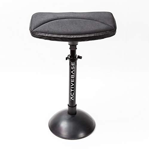 ACTIVE BASE Black Combo Base avec Housse d'assise Noire Chaise de Bureau Ergonomique et proprioceptive santé, Sport, Bien être Tabouret Dynamique, éducateur de la Posture