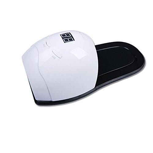 Nagel Trocknendes Licht-Schnelles UV LED Gel Nagel Lampen Polnisch Kurierendes Trockner Licht Smart Auto Sensing 3 Timer Einstellungs Berufsnagel Pediküre Licht,White - Zubehör-ventilator-licht-kit