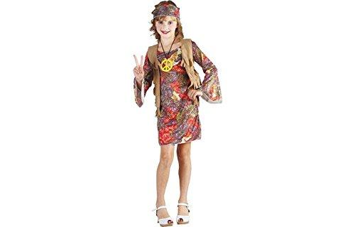 Hippiekleid Hippiekostüm Flower Power Mädchenkostüm 110 - Größe Kostüm 70er-jahre-plus