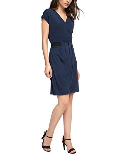 Esprit 036eo1e033 - Elastic Waistband - Robe - Femme Bleu - Blau (NAVY 400)