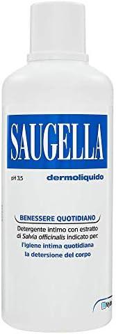Saugella, Dermoliquido, Detergente Per L'Igiene Intima Quotidiana a base di Salvia Officinalis, 75