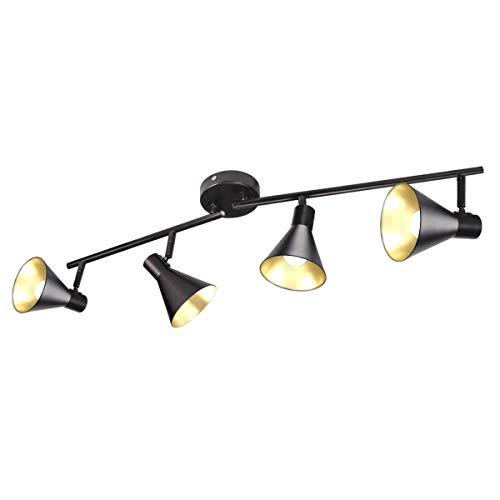 Lámpara de Techo Vintage Orientable con 4x Foco Giratorio Bombillas E14 No...