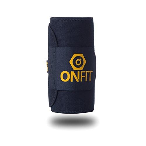 OnFit Fitnessgürtel Männer & Frauen Bauchweggürtel | Schlankheitsgürtel für Den Flachen Bauch | Slimming Schwitzgürtel | inkl. Ernährungsguide! + Gratis eBook!