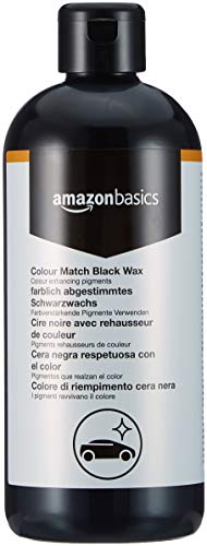 Amazon Basics - Cera nera per auto Colour Match Black Wax, flacone con chiusura a scatto da 500m