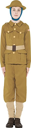 ollektion WW1 Junge Kostüm mit Oberteil Hose & Mütze, Medium (Ww1 Kostüme Für Kinder)