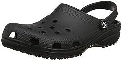 Crocs Unisex-Erwachsene Classic Clogs, Schwarz (Black), 46/47 EU