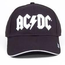 AC/DC Cap White Logo Mütze Kappe Schirmmütze baseball - Dc-mütze