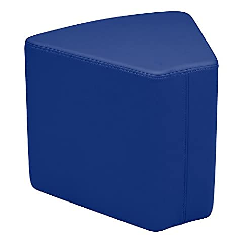 'sprogs Kids vinyle Soft Seating Wedge Stool, 18H, Blue, SPG-1003bl A