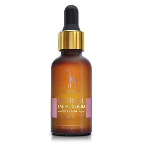 Retinol Serum – Mother Nature® | Anti-Aging – Pflege auch für empfindliche Haut | Hochdosiert 2,5% Retinol für Gesicht & Haut | inkl. Hyaluronsäure und Vitamin E | 30 ml - 2