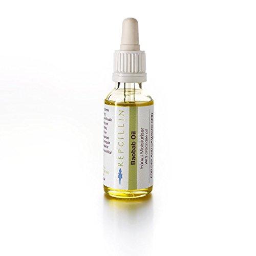Repcillin Crème Hydratante à l'huile de BAOBAB avec de l'huile de Crocodile Pour Peaux Sèches et Abimées