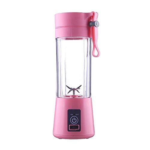 Portable Blender,Household Juicer Cup 380ml Fruit Mixer Bottle- Portable Juicer USB Rechargeable Batteries,Detachable Cup,Suitable for Mixing Fruit Juice,Vegetable Juice,Milkshake,Ice Drink