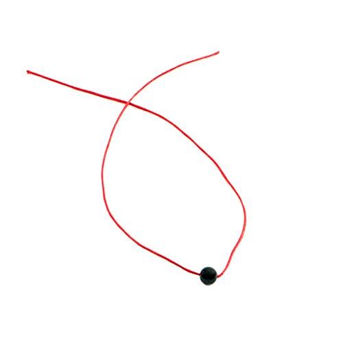 Bow, Pulsera Hilo Rojo con Azabache contra el Mal de Ojo 7 Nudos Ben Porat (Entre 5,50 y 5,90 mm)