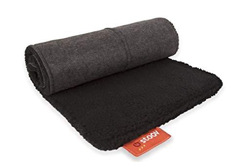 Big Hug Woolly | Black | kabellose Heizdecke - Rücken Wiederaufladbare Heizkissen