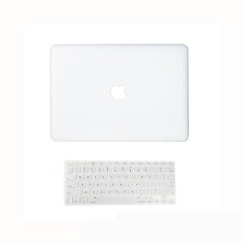 Topideal Hardcover-Schutzhülle, gummiert, matt, inkl. gleichfarbigem Tastatur-Cover, für 33,78cm (13,3Zoll) MacBook White A1342, Farblos - Apple Case Macbook White