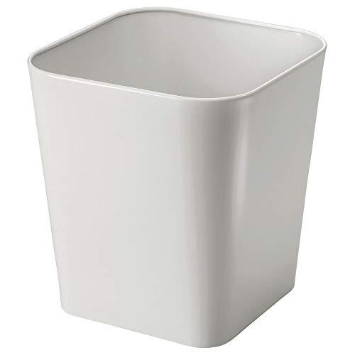 MDesign Cubo basura metal - Caja cosméticos cuadrada