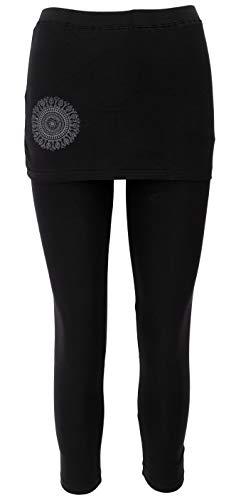Guru-Shop Yoga-Hose Bio-BW Yogi, Damen, Schwarz, Synthetisch, Size:XL (42), Shorts, 3/4 Hosen, Leggings Alternative Bekleidung