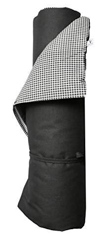 A.U MAISON Picknickdecke Pepita Karomuster 140x180cm schwarz grau