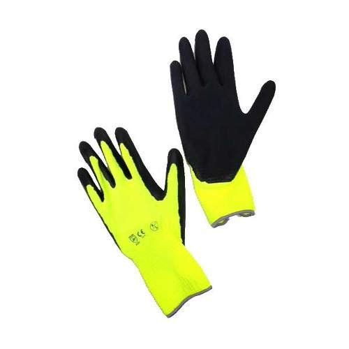 COMPRESSANA Super-Grip - Atmungsaktive Feinstrick-Handschuhe aus Polyester/Baumwolle mit in Latex getauchter Handfläche - ideal als Strumpfhandschuhe, Arbeitshandschuhe, Montagehandschuhe - Größe III - bis 9 cm Handbreite - 1 Paar