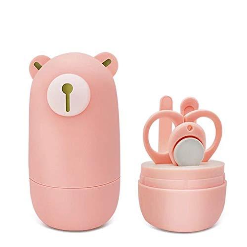 Baby tagliaunghie, set manicure erdigo heits di baby cura kit tools cura con baby di orso fall contiene tagliaunghie scissor nail file e naso pinzetta 1set (4pcs) rosa
