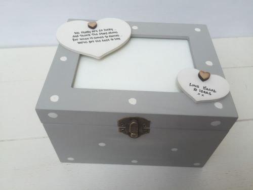 Shabby Chic-Stil personalisierbar Foto Box