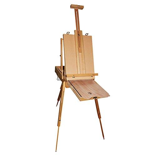 Kurtzy- Caballete para Pintura - Caballete de 182 cm de alto para Artistas - Completamente Ajustable con Estante de Almacenamiento y Paleta en la Parte Inferior - Caballete de Mesa Lienzos de Hasta 45cm Ideal para Pintar, Bocetos y Dibujos