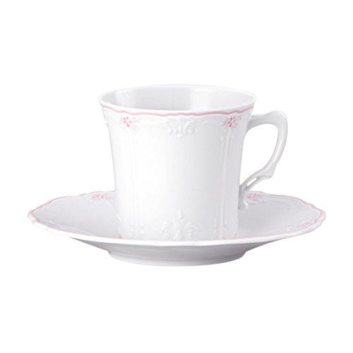 Hutschenreuther Baronesse Tasse à Café avec Soucoupe, Estelle Pink, Porcelaine, 20 cl, 2 pces, 14740