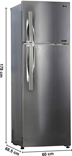 LG 360 L 4 Star Frost Free Double Door Refrigerator(GL-R402JPZN, SHINY STEEL, Convertible, Inverter Compressor)