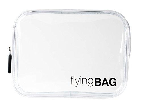 premaros flyingBAG transparenter Kulturbeutel für Ihre Flugreise, Kulturtasche zum Transport von Make Up und Flüssigkeiten im Handgepäck, 1l Volumen, durchsichtig (Make-up-beutel)