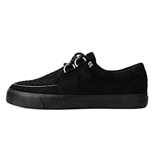 T.U.K. Shoes Herrenfrauen Schwarz Faux Suede D-Ring VLK Creeper Sneaker EU43 / UKM9