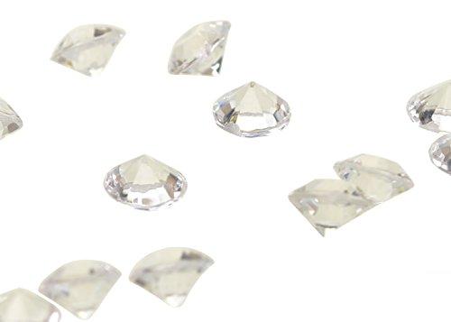 4,5 mm, 5000 Stück, transparent, Karat Diamanten -1, 3 Kristalle-Sparpack - Drei-karat-diamant